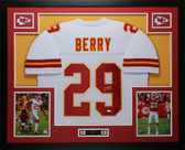Eric Berry Autographed & Framed White Kansas City Chiefs JSA COA