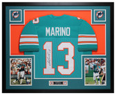Dan Marino Autographed & Framed Teal Miami Dolphins Jersey Auto JSA COA