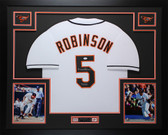 Brooks Robinson Autographed & Framed White Baltimore Orioles Jersey Auto JSA COA