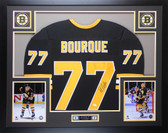 Ray Bourque Autographed & Framed Black Boston Bruins Jersey JSA COA