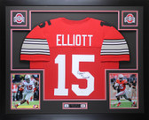Ezekiel Elliott Autographed & Framed Red Ohio State Jersey JSA COA D2-L