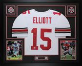 Ezekiel Elliott Autographed & Framed White Ohio State Jersey JSA COA D3-L