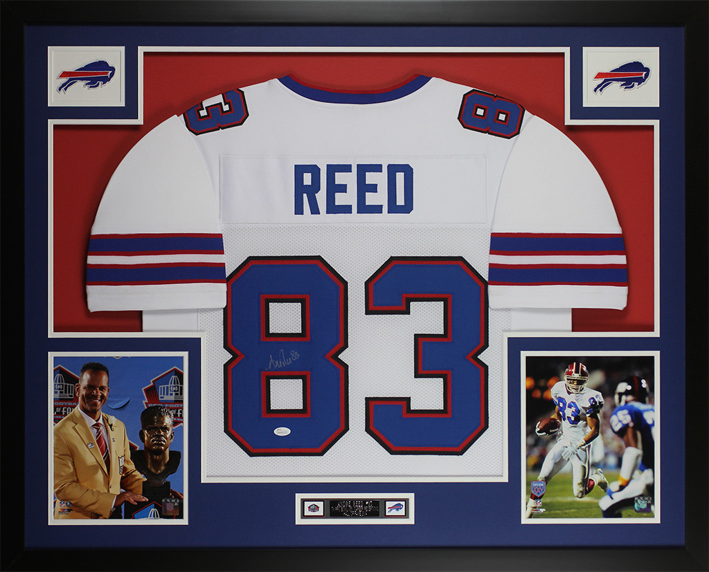 super popular 950da a6ee1 Andree Reed Autographed and Framed White Bills Jersey