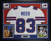 Andre Reed Autographed and Framed White Buffalo Bills Jersey Auto JSA Certified