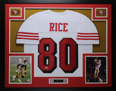 Jerry Rice Autographed and Framed White San Francisco 49ers Jersey Auto PSA COA