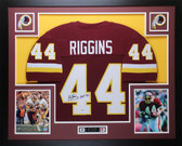 John Riggins Autographed HOF 92 and Framed Burgundy Washington Redskins Jersey PSA COA