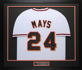 Willie Mays Autographed and Framed White San Francisco Giants Jersey Auto Say Hey COA