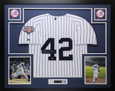 Mariano Rivera Autographed and Framed White P/S NY New York Yankees Steiner COA
