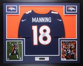 Peyton Manning Autographed & Framed Navy Denver Broncos Jersey Steiner COA