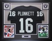 Jim Plunkett Autographed & Framed Black Raiders Jersey JSA COA