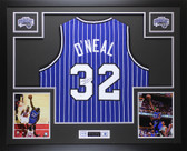 Shaquille O'Neal Autographed & Framed Pinstriped Orlando Magic Jersey Auto JSA COA
