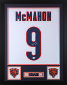 Jim McMahon Autographed and Framed White Chicago Bears Jersey Auto JSA COA