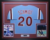 Mike Schmidt Autographed 80 NL WS MVP & Framed Philadelphia Phillies Jersey Fanatics  COA