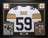 "Jack Ham Autographed ""HOF 88"" & Framed White Pittsburgh Steelers Jersey Auto JSA COA"