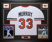 "Eddie Murray Autographed ""HOF 2003"" & Framed Baltimore Orioles Jersey Auto Beckett COA"