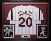 "Mike Schmidt Autographed ""HOF 95"" & Framed White Philadelphia Phillies Jersey Fanatics COA"