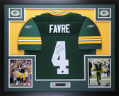 Brett Favre Autographed and Framed Green Green Bay Packers Jersey Auto Favre COA
