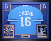 Bo Jackson Autographed & Framed Blue Kansas City Royals Jersey Auto Beckett COA