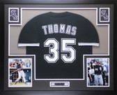 Frank Thomas Autographed & Framed Black Chicago White Sox Jersey Auto JSA COA