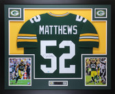 Clay Matthews Autographed & Framed Green Green Bay Packers Jersey Auto COA