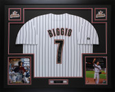 Criag Biggio Autographed & Framed HOF 15 P/S Astros Jersey Tristar COA (D2-L)