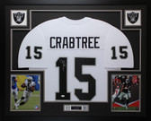 Michael Crabtree Autographed & Framed White Oakland Raiders Jersey Auto JSA COA