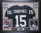 Michael Crabtree Autographed & Framed Black Raiders Jersey Auto JSA COA