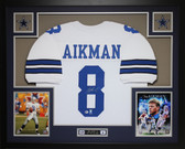 Troy Aikman Autographed & Framed White Dallas Cowboys Jersey Auto Beckett Certified