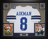 Troy Aikman Autographed and Framed White Dallas Cowboys Jersey Auto Beckett Certification