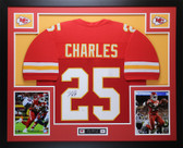 Jamaal Charles Autographed & Framed Red Kansas City Chiefs Auto JSA COA