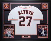 Jose Altuve Autographed & Framed White Houston Houston Astros Jersey Fanatics COA