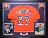 Jose Altuve Autographed & Framed Orange Houston Astros Jersey Fanatics COA D2-L