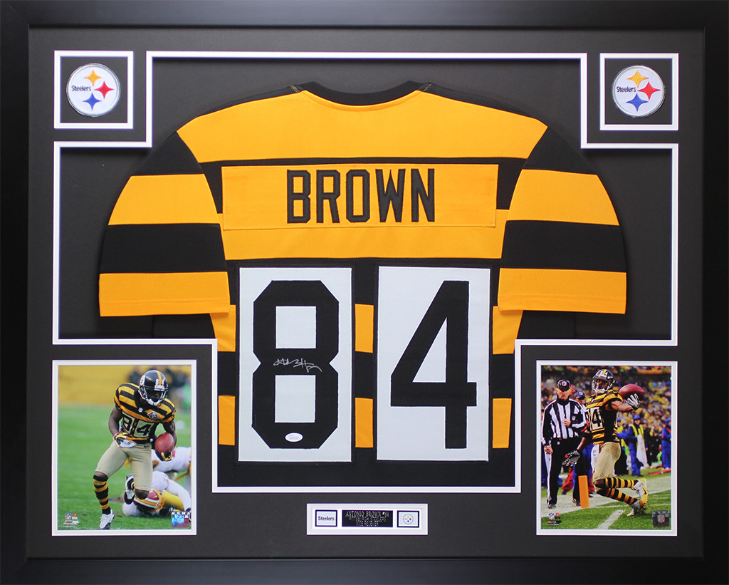 new style 67f0a 177e2 Antonio Brown Autographed and Framed Steelers Jersey