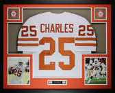Jamaal Charles Autographed and Framed White Texas Longhorns Jersey Auto GTSM Certified