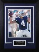 Dak Prescott Framed 8x10 Dallas Cowboys Photo (DP-P2C)