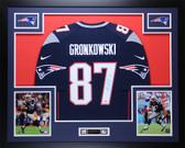Rob Gronkowski Autographed & Framed Navy Nike New England Patriots Jersey Auto PSA COA