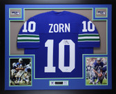 Jim Zorn Autographed & Framed Blue Seattle Seahawks Jersey Auto MCS COA