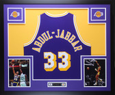 Kareem Abdul-Jabbar Autographed & Framed Purple Los Angeles Lakers Jersey Auto Beckett COA