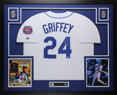 Ken Griffey Jr Autographed & Framed White Seattle Mariners Jersey Auto TRISTAR COA