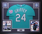 Ken Griffey Jr Autographed & Framed Teal Seattle Mariners Jersey Auto TRISTAR COA