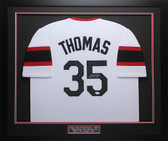Frank Thomas Autographed & Framed White Chicago White Sox Jersey JSA COA