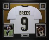 Drew Brees Autographed & Framed White New Orleans New Orleans Saints Jersey JSA COA