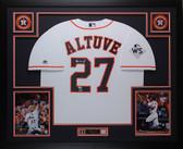 Jose Altuve Autographed & Framed White Astros Jersey Fanatics COA D1-L