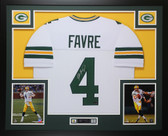 Brett Favre Autographed and Framed White Green Bay Packers Jersey Auto Favre COA