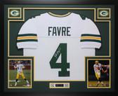 Brett Favre Autographed & Framed White Green Bay Packers Jersey Auto Favre COA