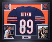 Mike Ditka Autographed and Framed Navy Chicago Bears Jersey Auto JSA Certified