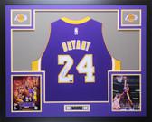 Kobe Bryant Autographed & Framed Purple Swingman Los Angeles Lakers #24 Jersey Auto Panini COA