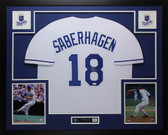 Bret Saberhagen Autographed & Framed White Kansas City Royals Jersey Auto JSA COA