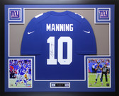 Eli Manning Autographed & Framed Blue Nike New York Giants Jersey Auto Steiner COA