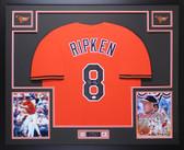 Cal Ripken Autographed & Framed Orange Baltimore Orioles Jersey Auto JSA COA